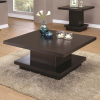 Coaster 70516 Modern Pedestal Coffee Table | Value City ...