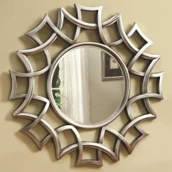 Accent Mirrors Living Room Packages Perth Coaster Starburst Mirror In Silver Finish