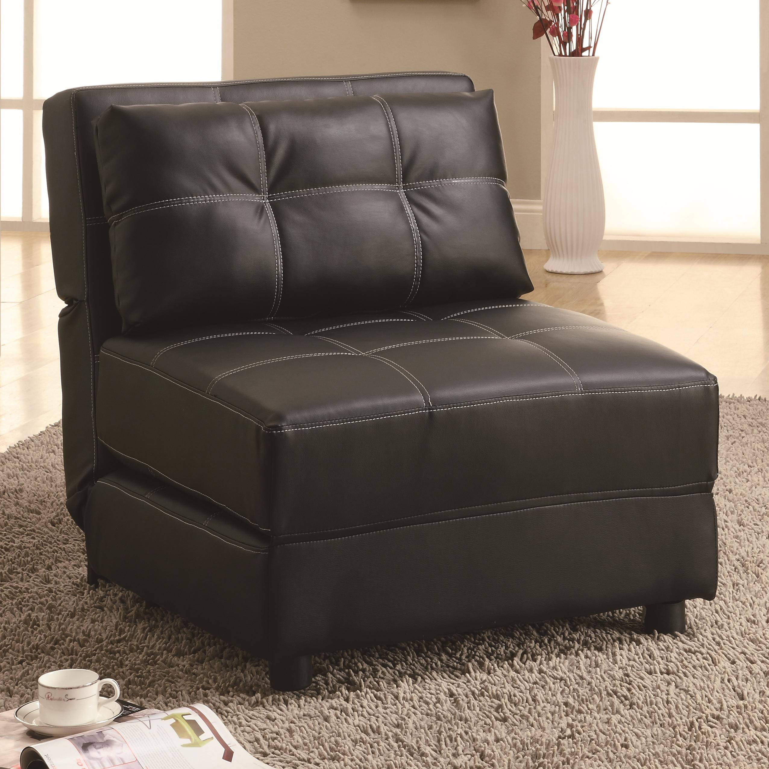 chair that opens into a bed rocking chairs at big lots coaster accent seating contemporary armless lounge sofa