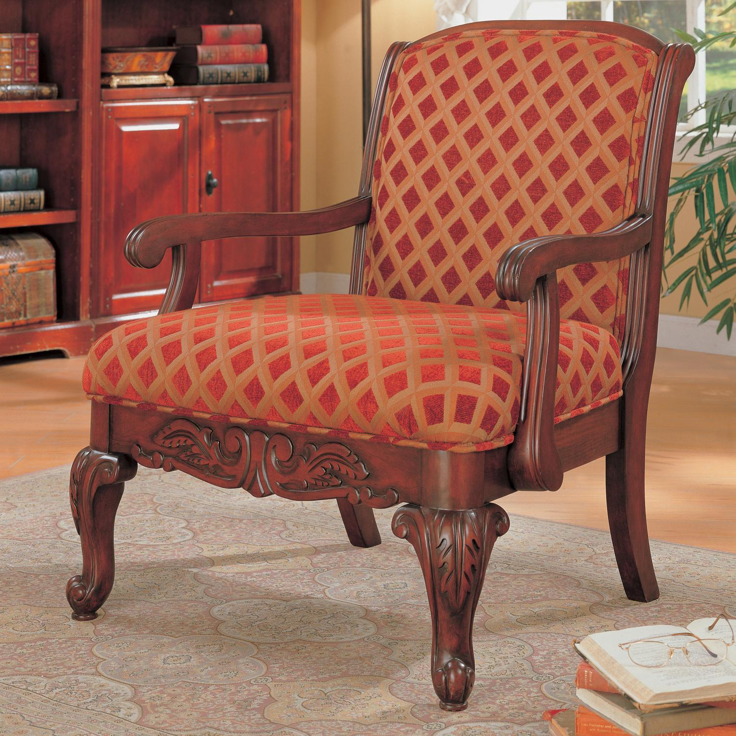 Coaster Accent Chair Accent Seating Upholstered Chair With Wood Armrests By Coaster At Miller Home