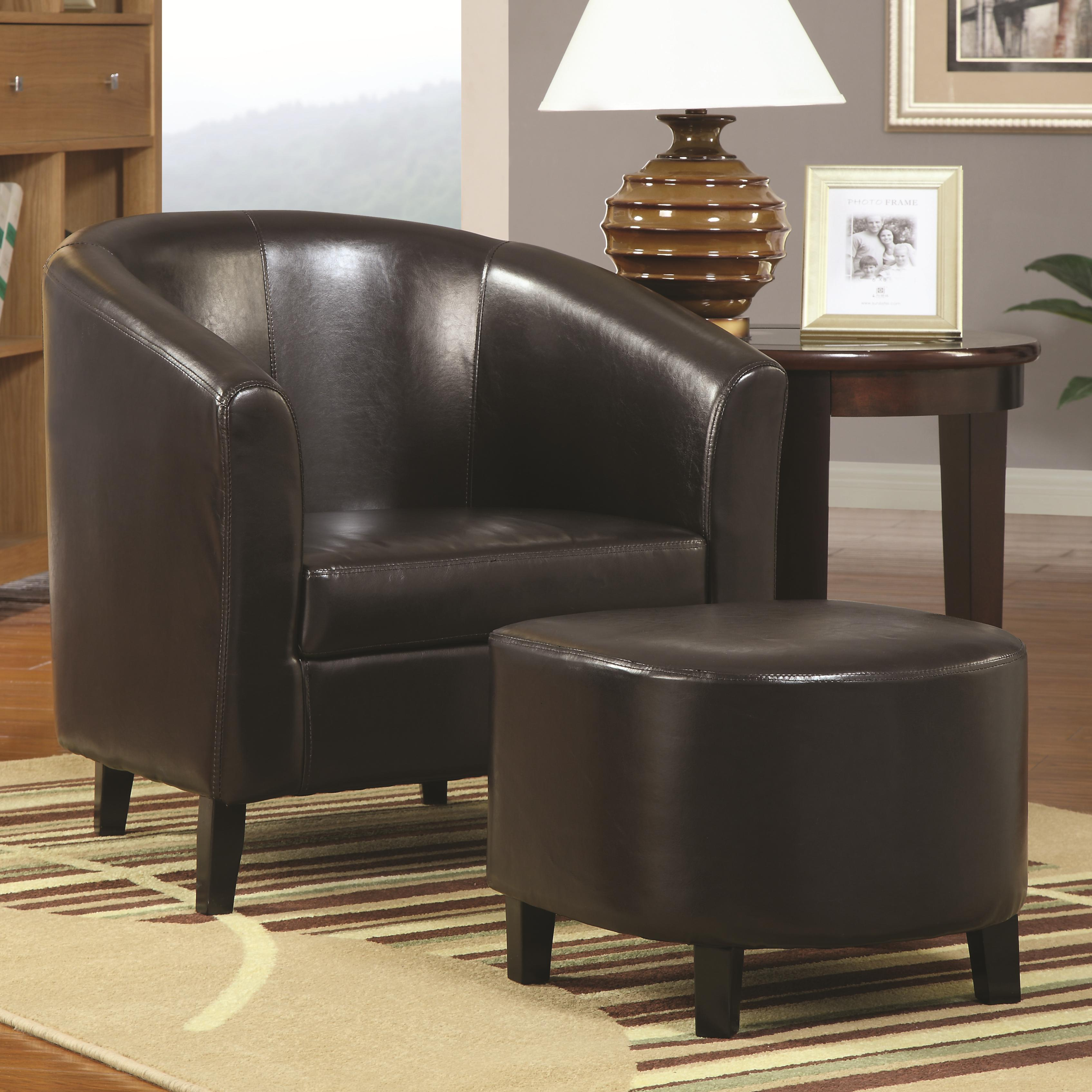 accent chairs with ottomans swing chair baby mothercare coaster seating w ottoman rooms for less and