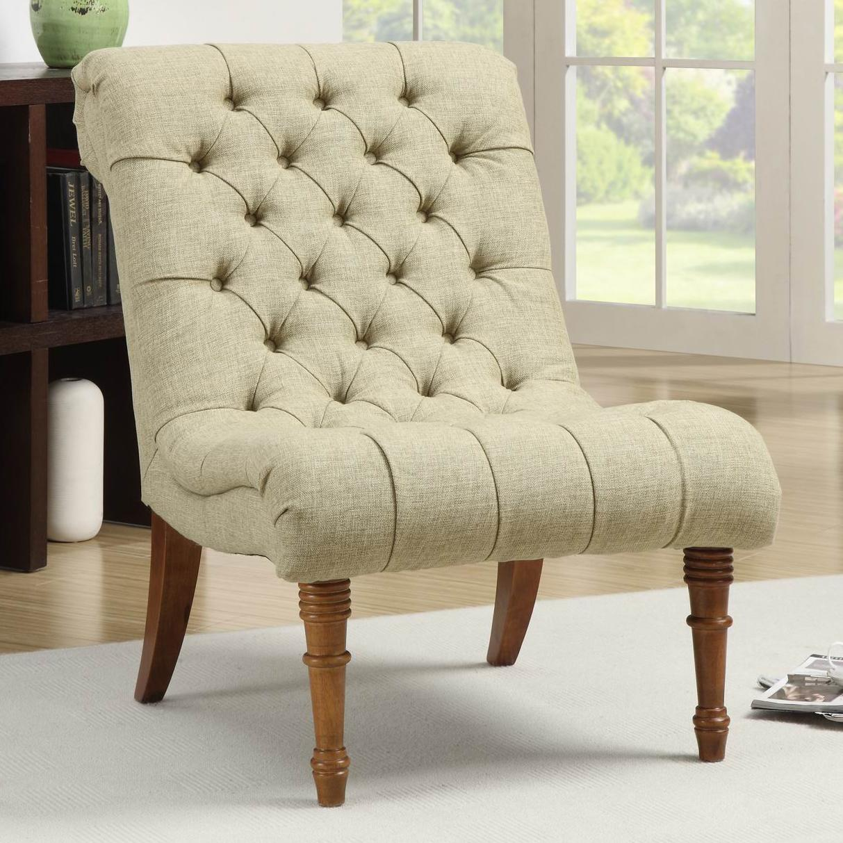 Coaster Accent Chair Accent Seating Tufted Accent Chair Without Arms By Coaster At Value City Furniture