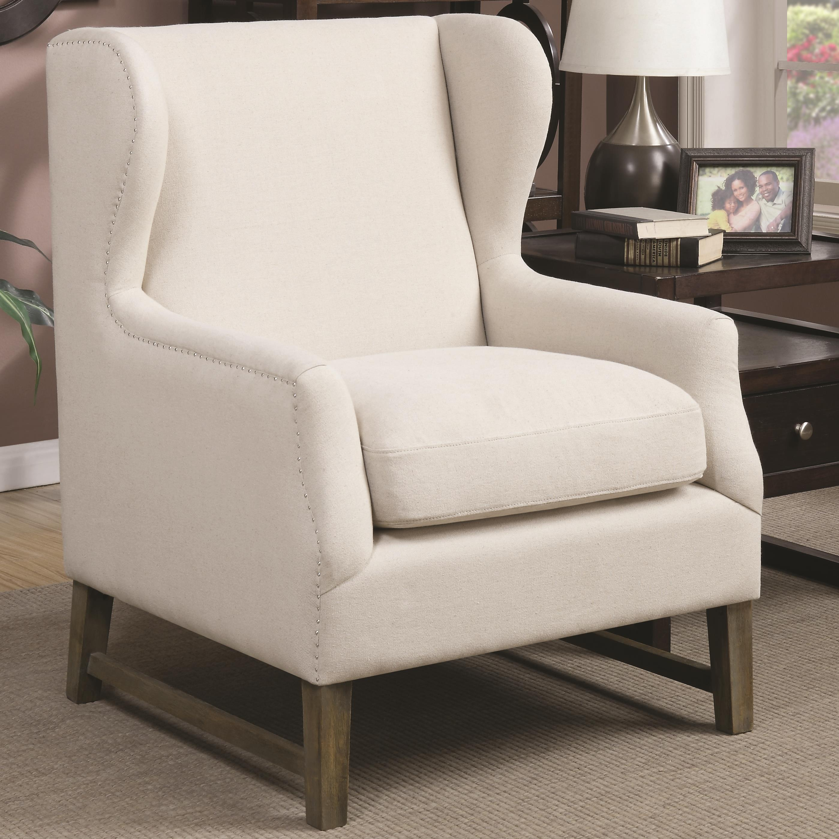 Coaster Accent Seating Accent Chair with Wing Back Design