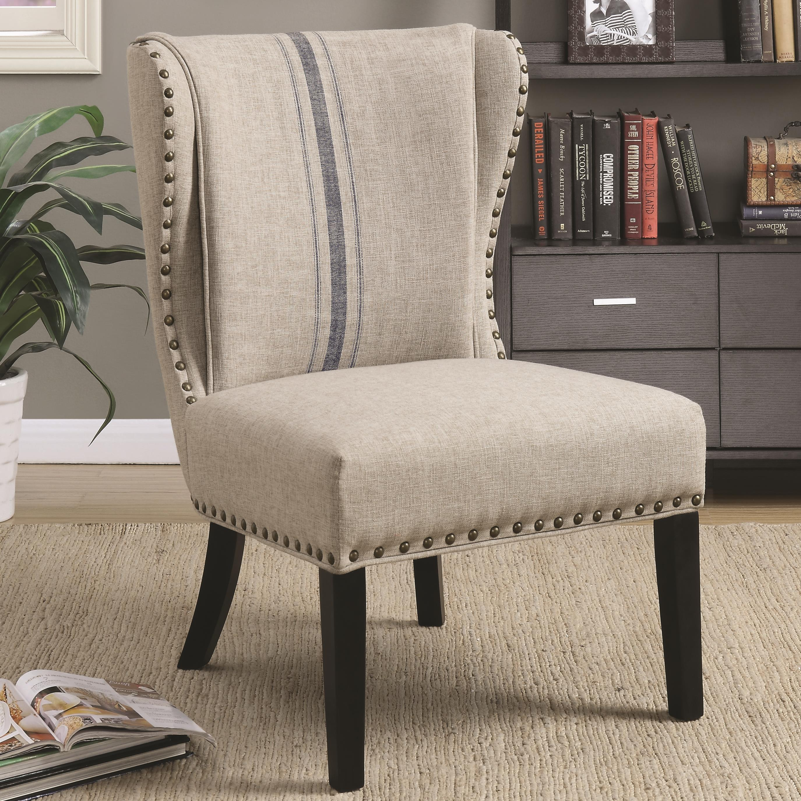 Coaster Accent Seating Traditional Accent Chair with Wing