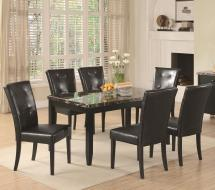 Coaster Anisa 7 Piece Dining Table And Chairs Set Rife'