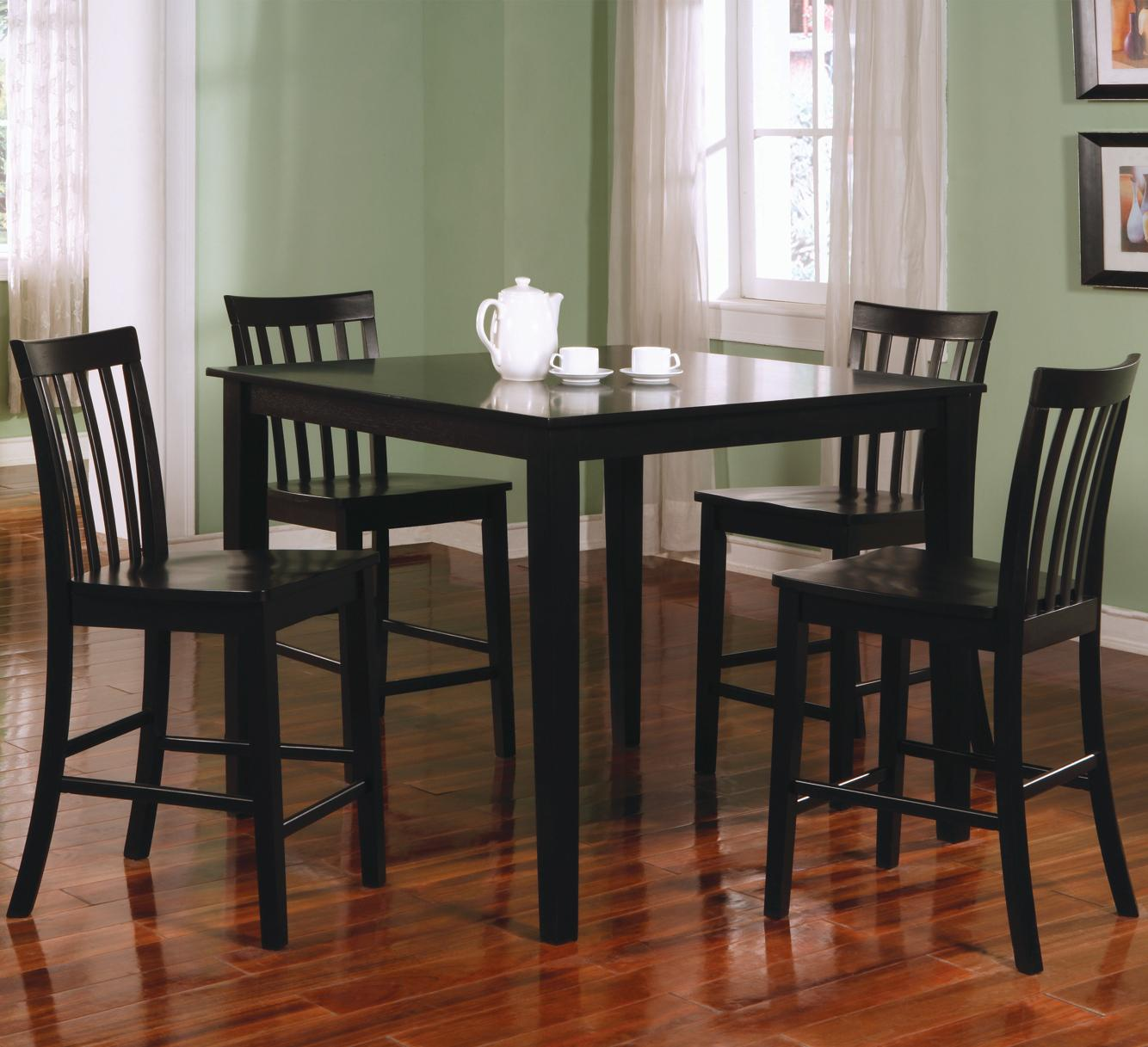 bar height kitchen table rustic island lighting coaster ashland 5 piece counter dining set value city