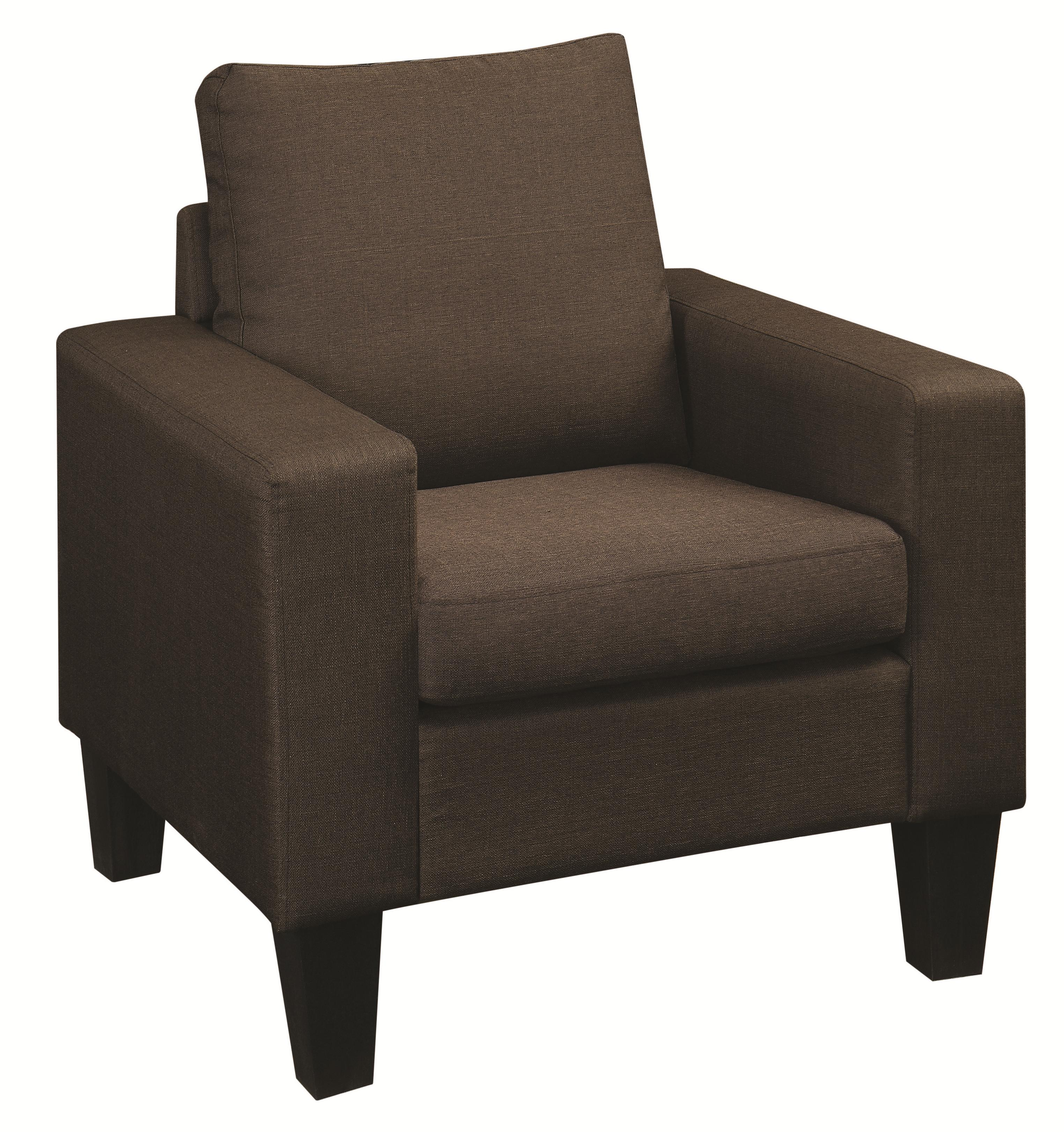 Coaster Bachman Upholstered Chair with Track Arms and