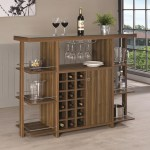Coaster Bar Units And Bar Tables Modern Bar Unit With Wine Bottle Storage Value City Furniture Bars