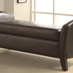 Benches For Living Rooms Black Sectional Room Ideas Coaster Vinyl Storage Bench With Curved Ends Value City