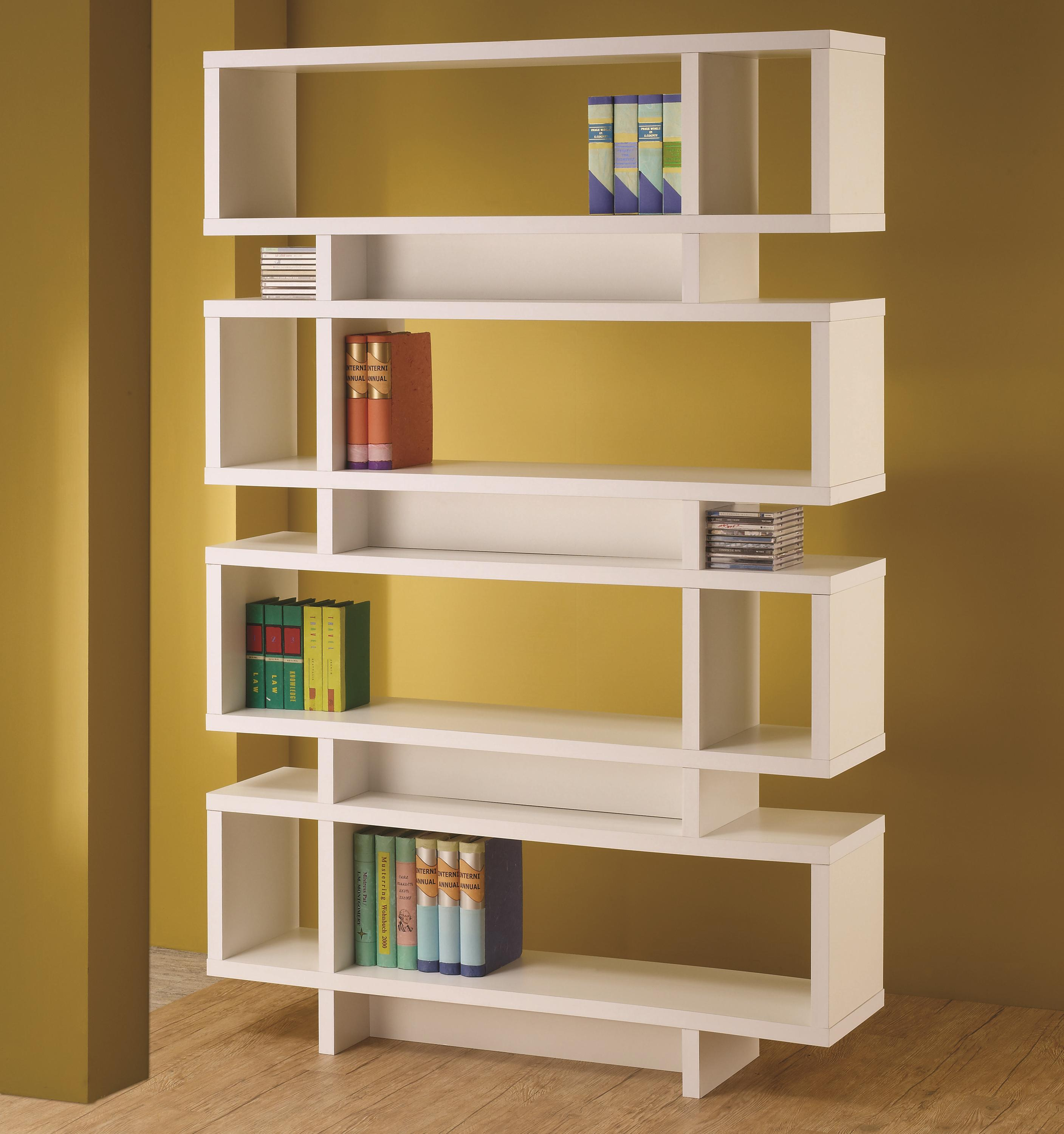 bookcases contemporary white finish