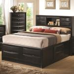 Coaster Briana California King Contemporary Storage Bed With Bookshelf A1 Furniture Mattress Bookcase Beds