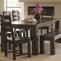 Coaster Calabasas Contemporary Dining Table with Wavy Wood ...