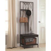 Coaster Coat Racks 900599 Hall Tree with Storage Bench ...