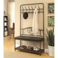 Coaster Coat Racks Hall Tree with Storage Bench