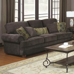 Leather And Chenille Sofa Chestfield Coaster Colton Traditional With Elegant Design Style Value By