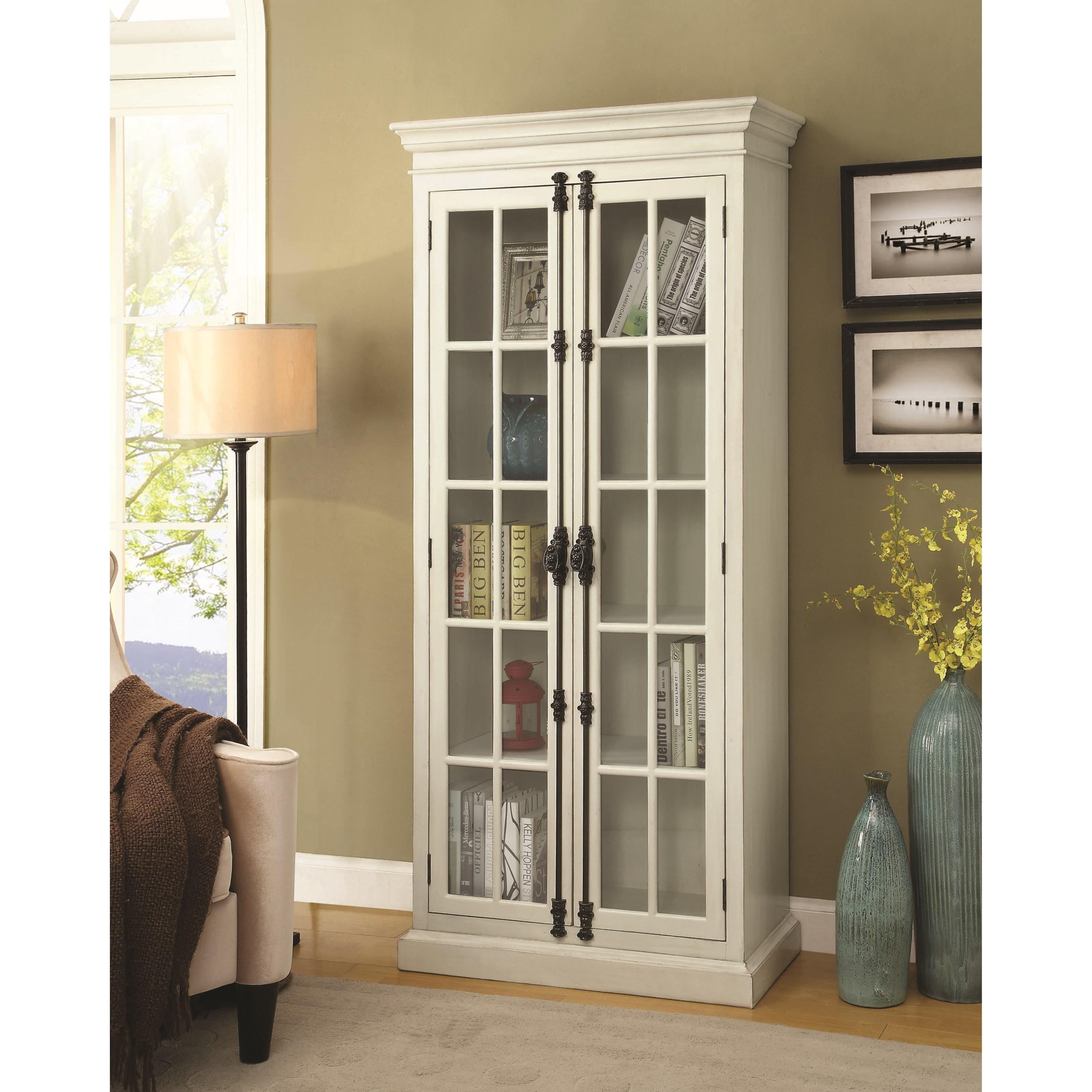 Coaster Curio Cabinets 910187 White Curio Cabinet  Dunk