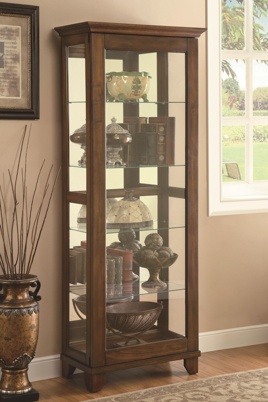 Coaster Curio Cabinets 950188 5 Shelf Curio Cabinet with