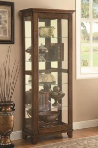 Coaster Curio Cabinets 950188 5 Shelf Curio Cabinet with ...