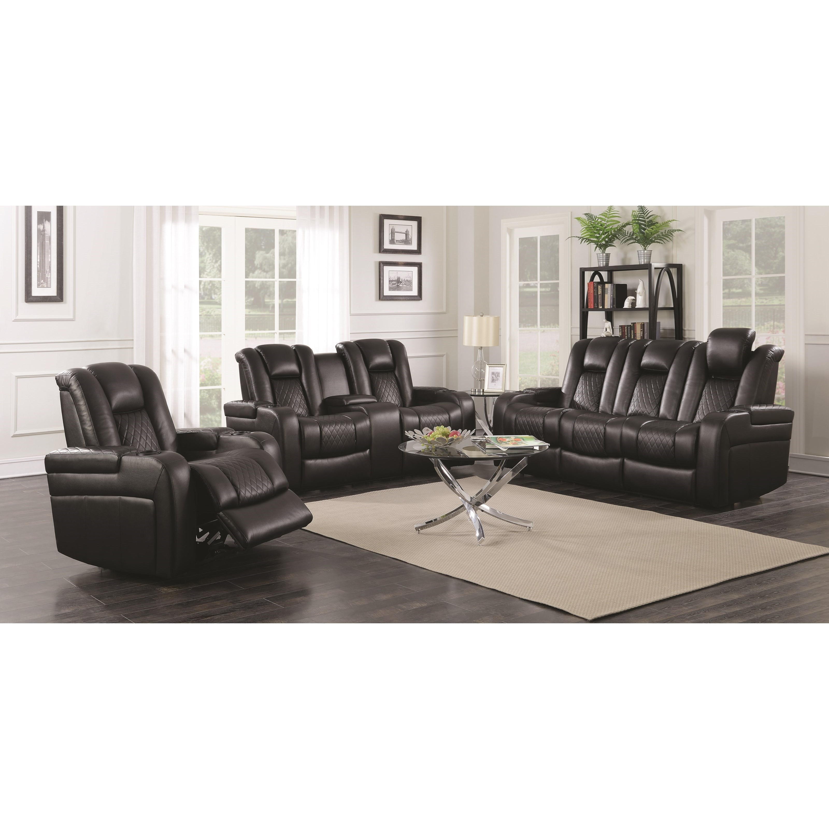 pop up recliner chairs girls bean bag reclining living room group delangelo by coaster wilcox
