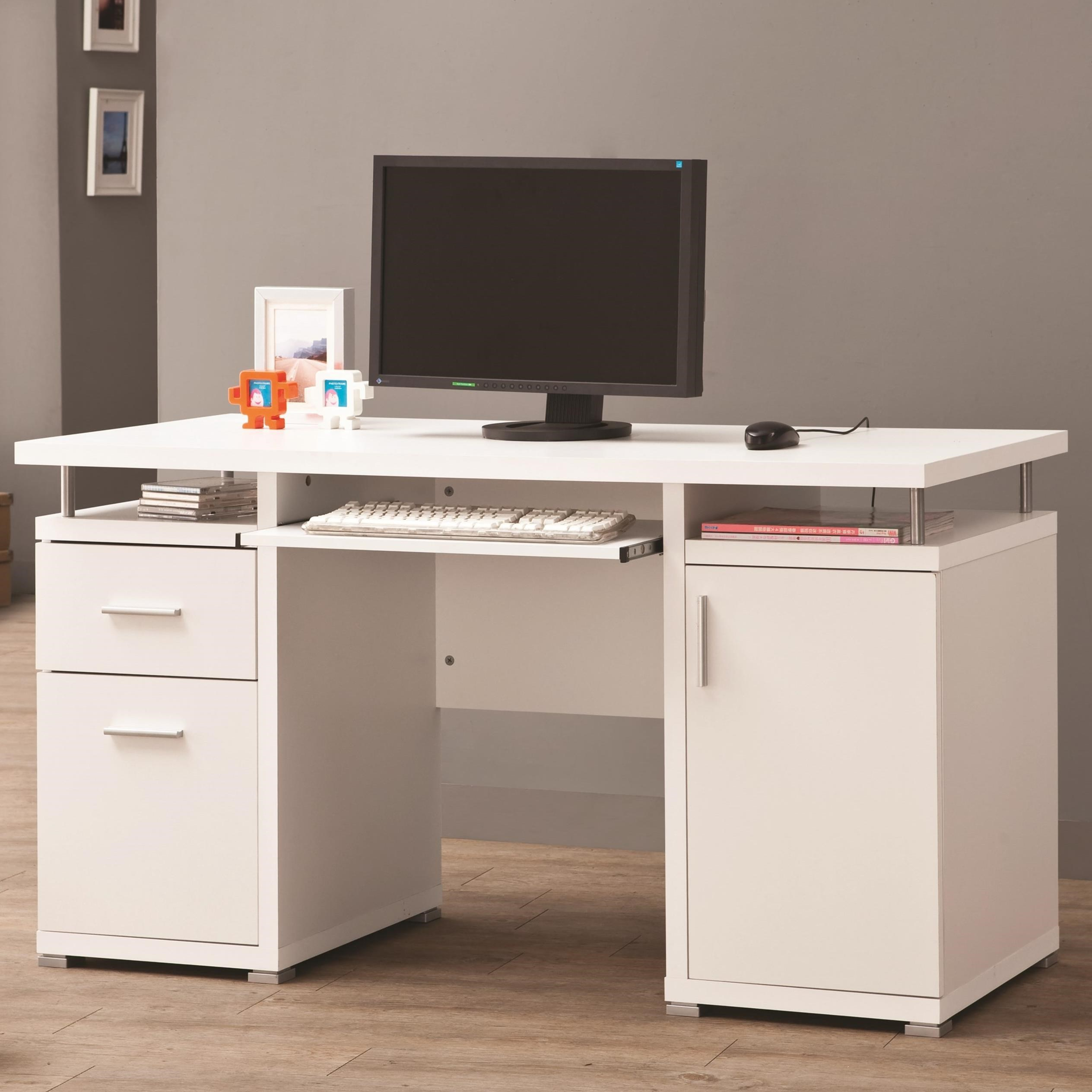 Coaster  Computer Desk with 2 Drawers and Cabinet  Value