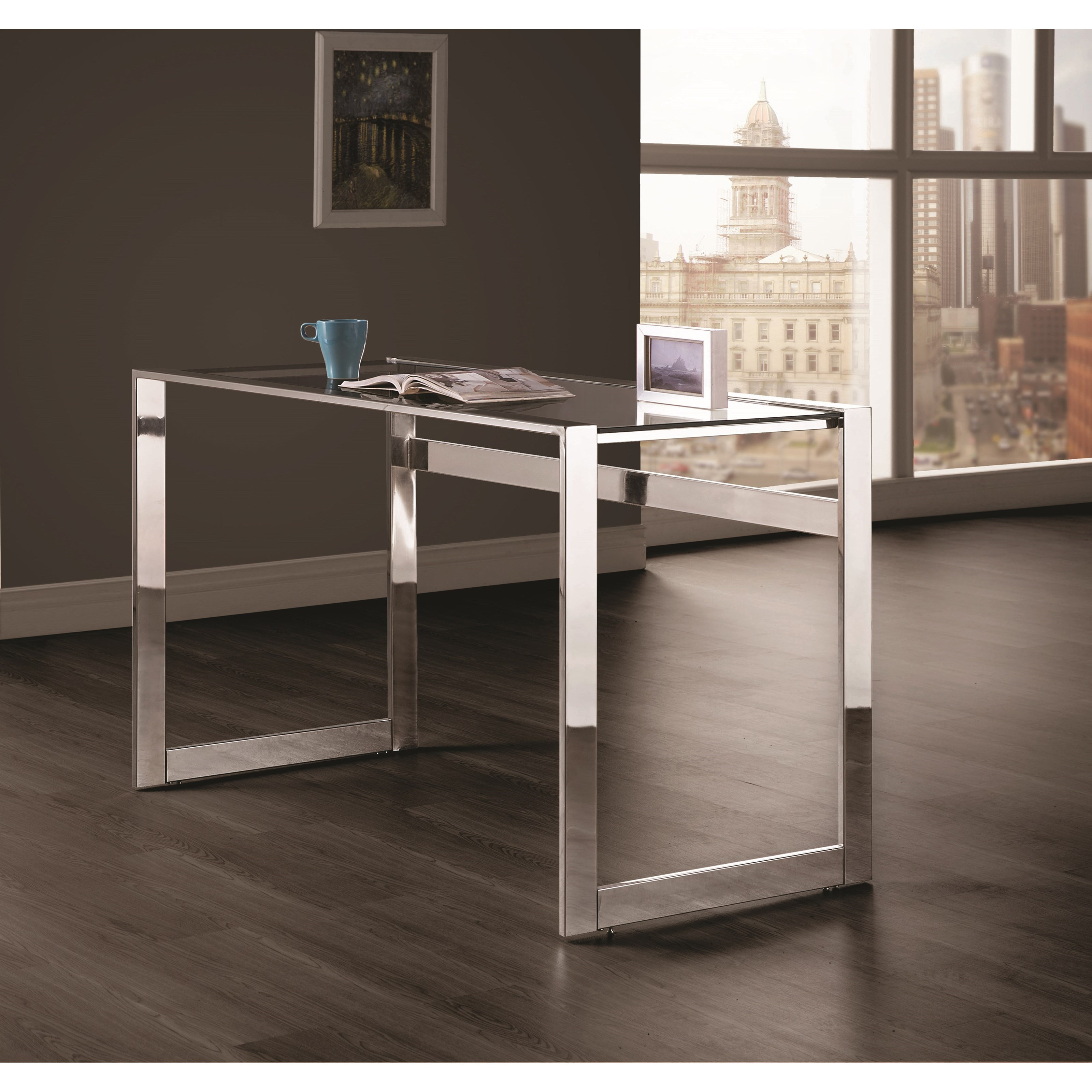 Coaster 800746 Contemporary Computer Desk with Chrome Legs