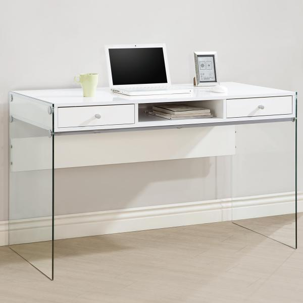 Coaster - Modern Computer Desk With Glass Sides