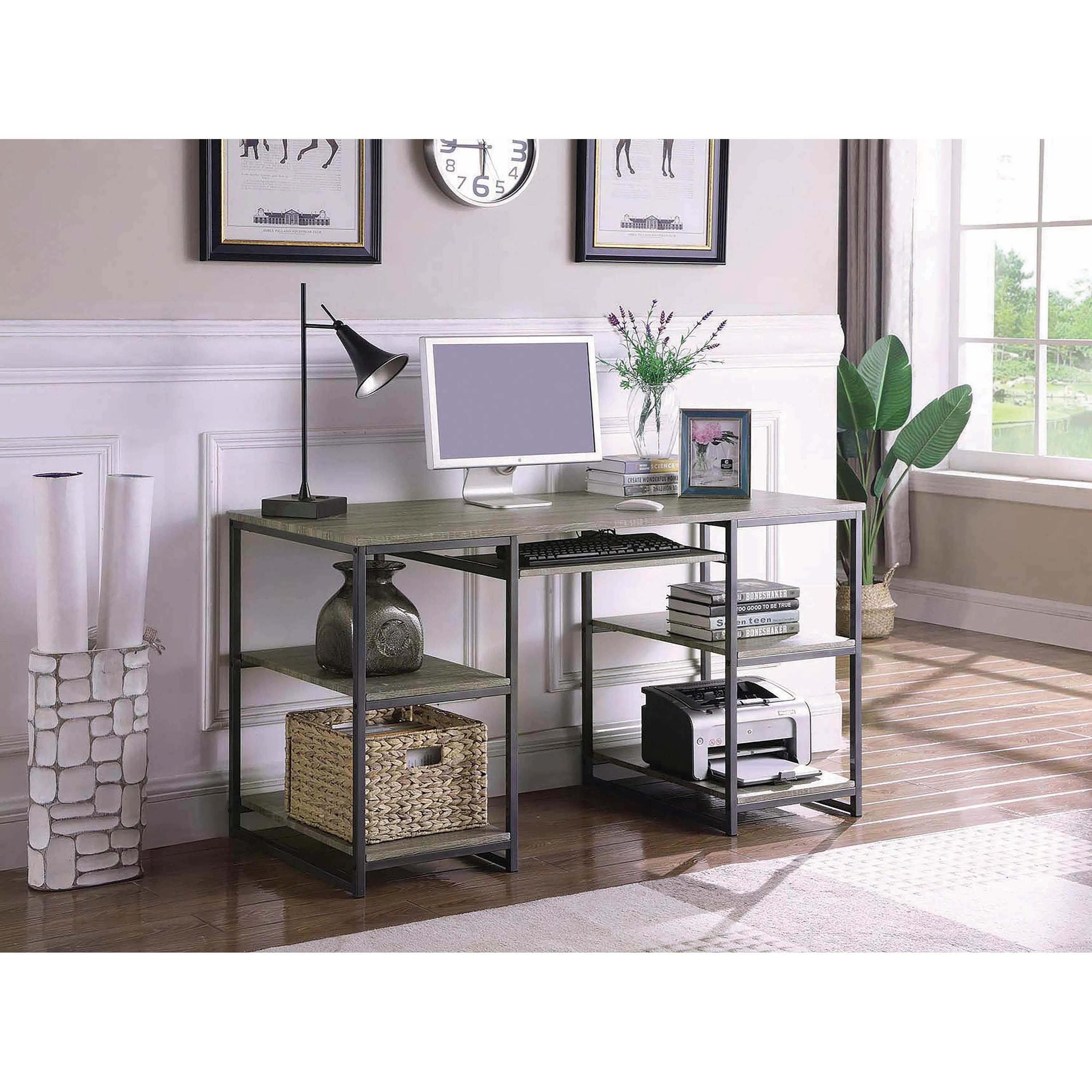 Coaster Contemporary Computer Desk with Open Shelving