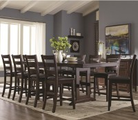 Coaster Holbrook 11 Piece Counter Height Table and Ladder ...