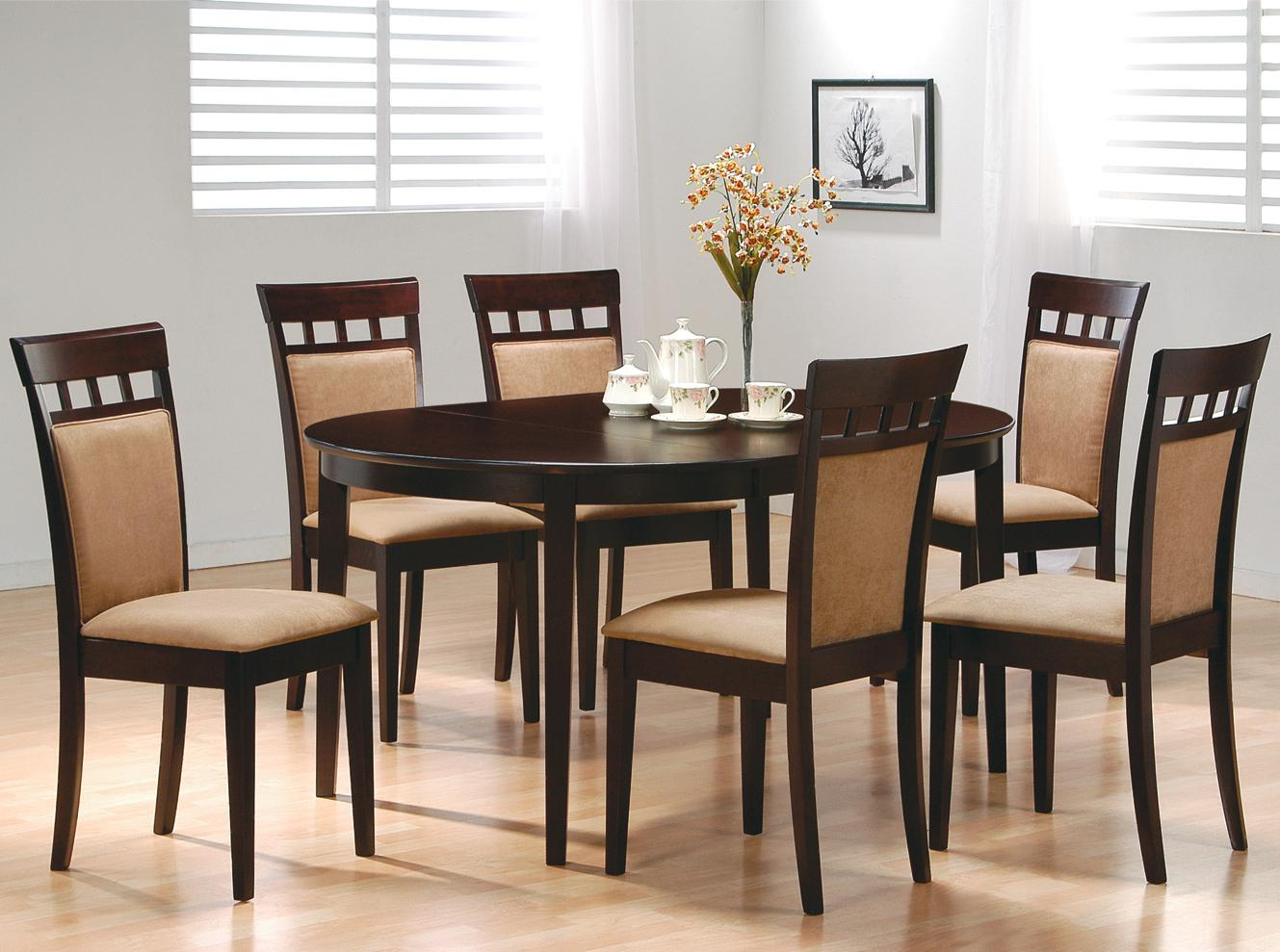 Black Dining Room Table And Chairs Mix Match 7 Piece Dining Set By Coaster At Dunk Bright Furniture