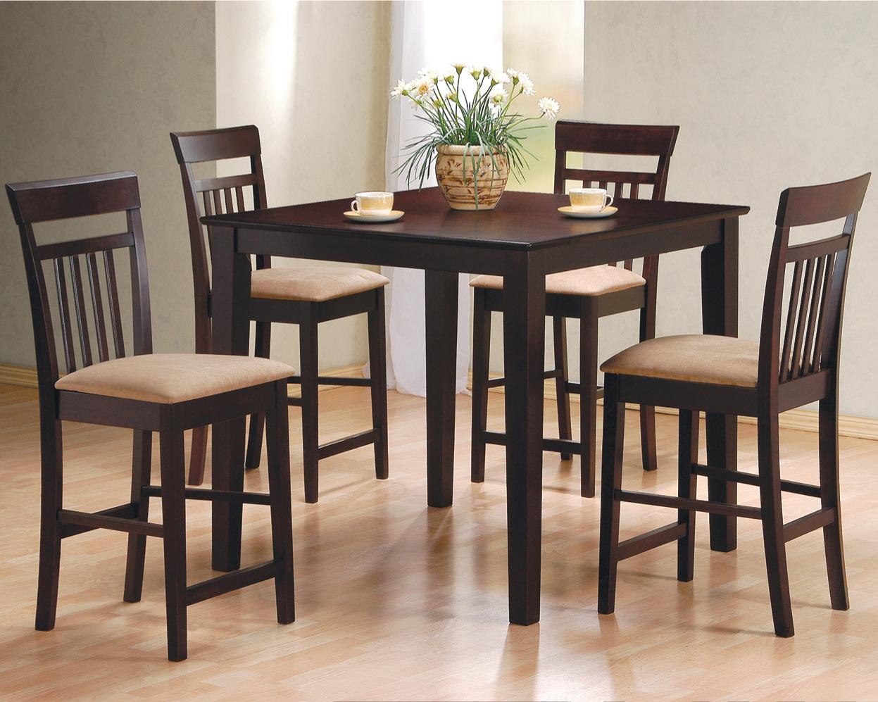 Bar Height Table And Chairs Mix Match 5 Piece Counter Height Dining Set By Coaster At Dunk Bright Furniture