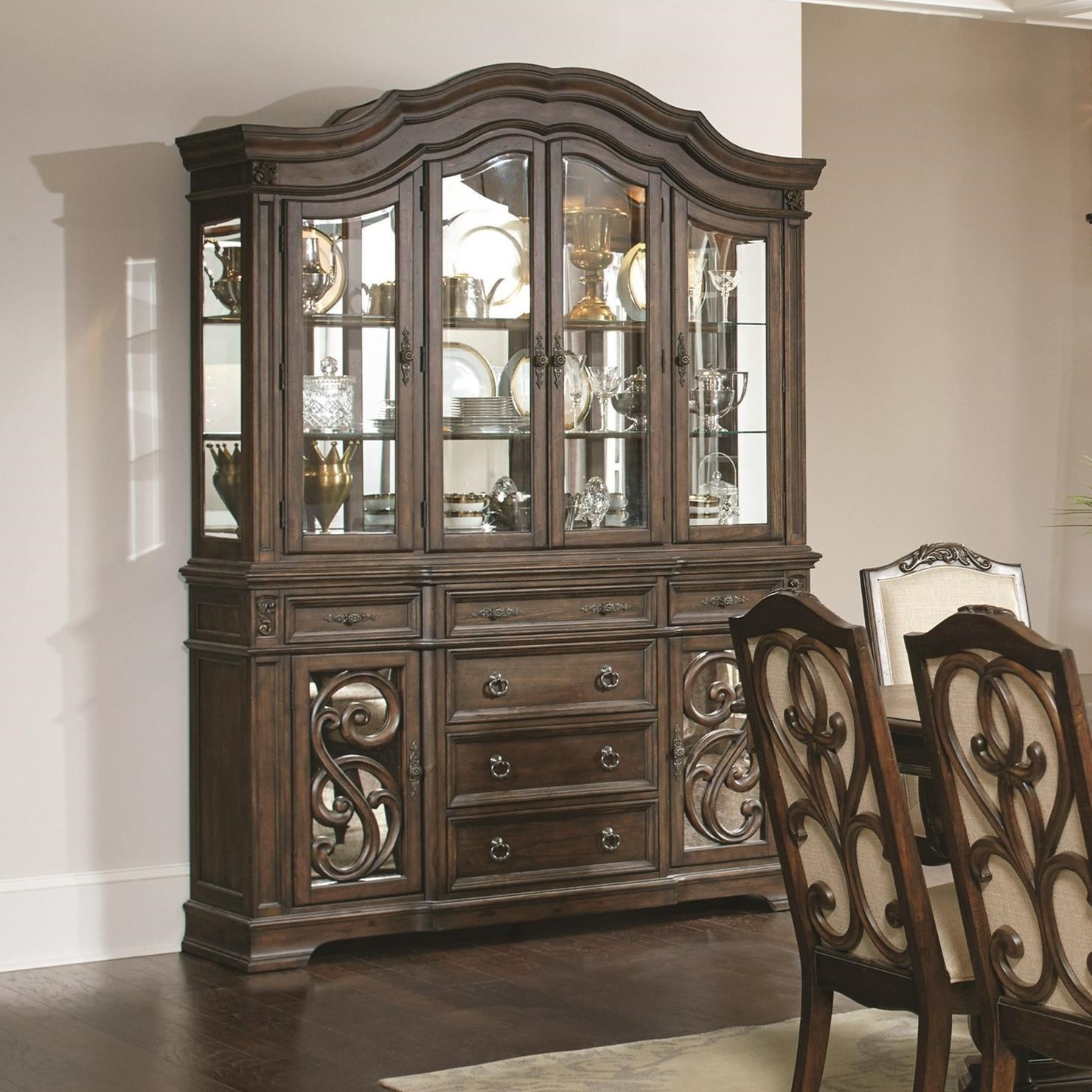 Coaster Ilana Traditional China Cabinet with Glass Doors