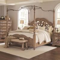 Coaster Ilana California King Canopy Bed with Mirror Back