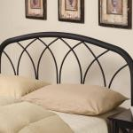 Coaster Iron Beds And Headboards Full Queen Modern Black Metal Headboard Prime Brothers Furniture Headboards