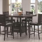 Coaster Jaden Square Counter Height Table Cushioned Stool Set Value City Furniture Pub Table And Stool Sets