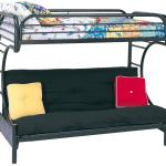 Coaster Metal Beds C Style Twin Over Full Futon Bunk Bed Standard Furniture Bunk Beds
