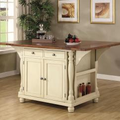 Cheap Kitchen Islands Small Solutions Ikea Coaster Carts Two Tone Island With Drop Leaves