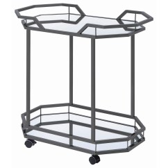 Kitchen Serving Cart Cabinets Clearance Coaster Carts Glam With Mirrored Bottom Value