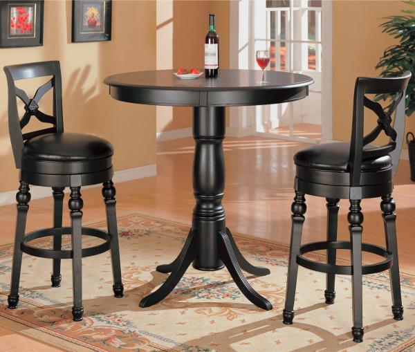 Coaster Lathrop 3 Piece Bar Table Set Del Sol Furniture Pub And Stool Sets