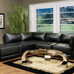 Living Room Black Leather Sectional Travertine Tile Wall Coaster Kayson Contemporary Sofa Value City By