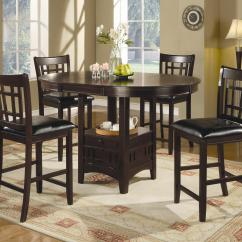 Bar Height Kitchen Table Sets Amazon Island Coaster Lavon 7 Piece Counter And Chair Set Value City