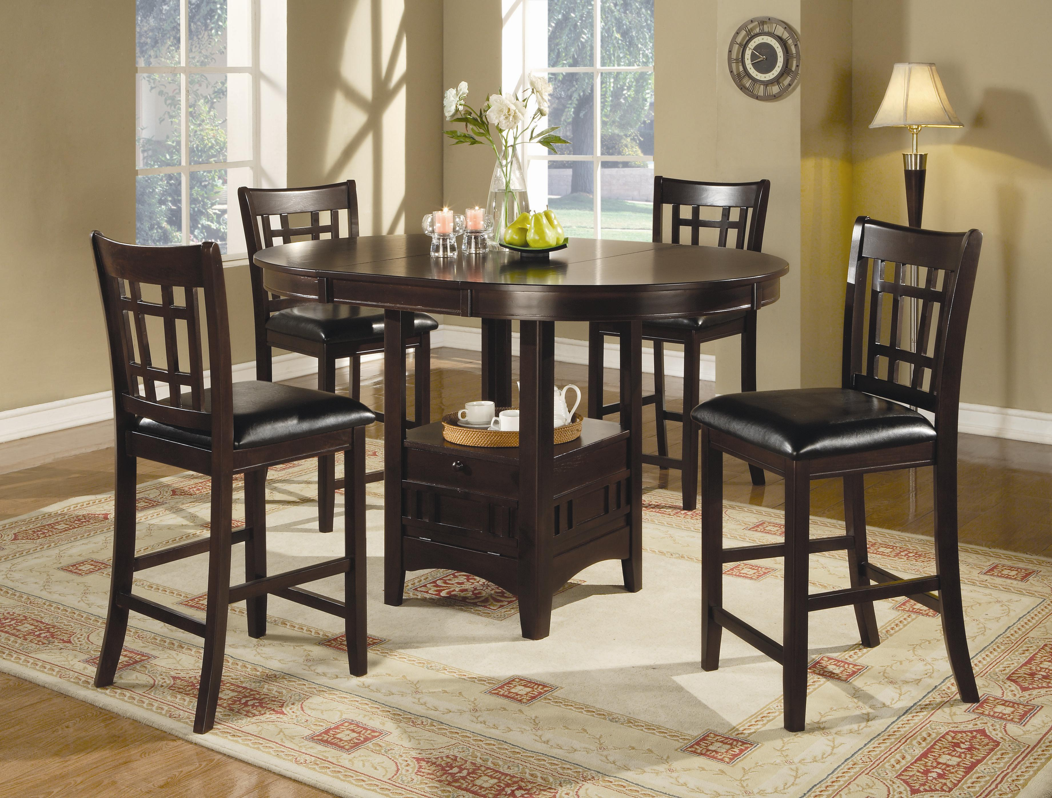 Bar Table With Chairs Lavon 5 Piece Counter Table And Chair Set By Coaster