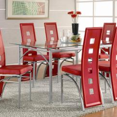 Chairs For Kitchen Table Metal Shelving Coaster Los Feliz Contemporary Dinner And Red Dining Chair Set