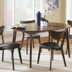 Mid Century Dining Chairs Eames Arm Chair Coaster Malone Modern 5 Piece Solid Wood Set