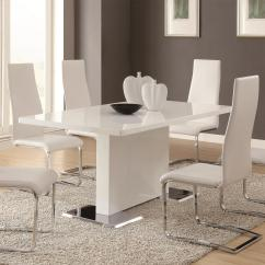 White Table Chairs Chair Covers For Hire Randburg Coaster Modern Dining 7 Piece Upholstered Set