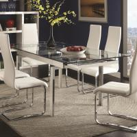 Coaster Modern Dining Contemporary Glass Dining Table with ...