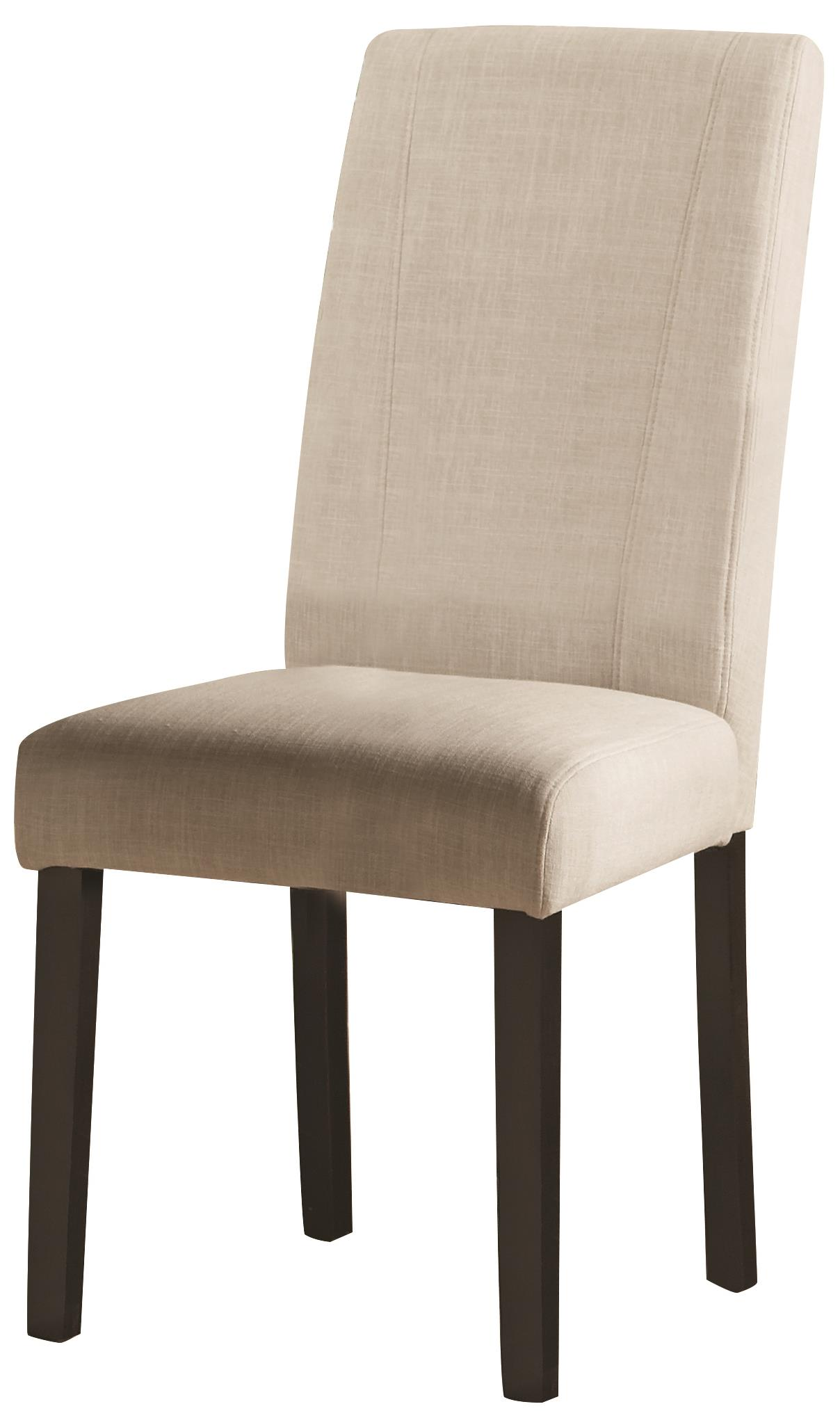 parsons chairs unusual bedroom chair coaster nagel 130061 white fabric side dunk bright