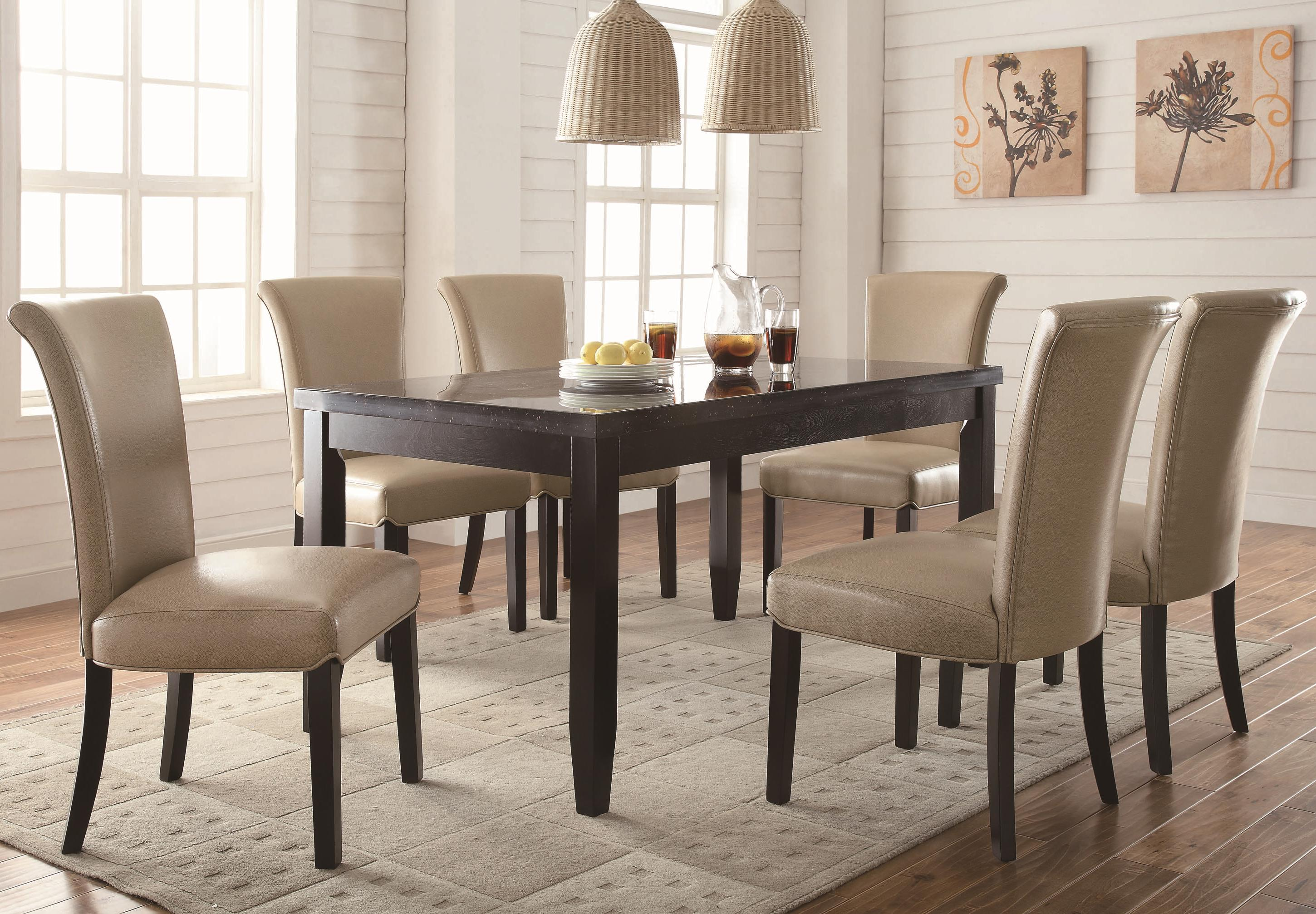 Dining Room Chair Sets Newbridge 7 Piece Dining Table Chair Set By Coaster At Michael S Furniture Warehouse
