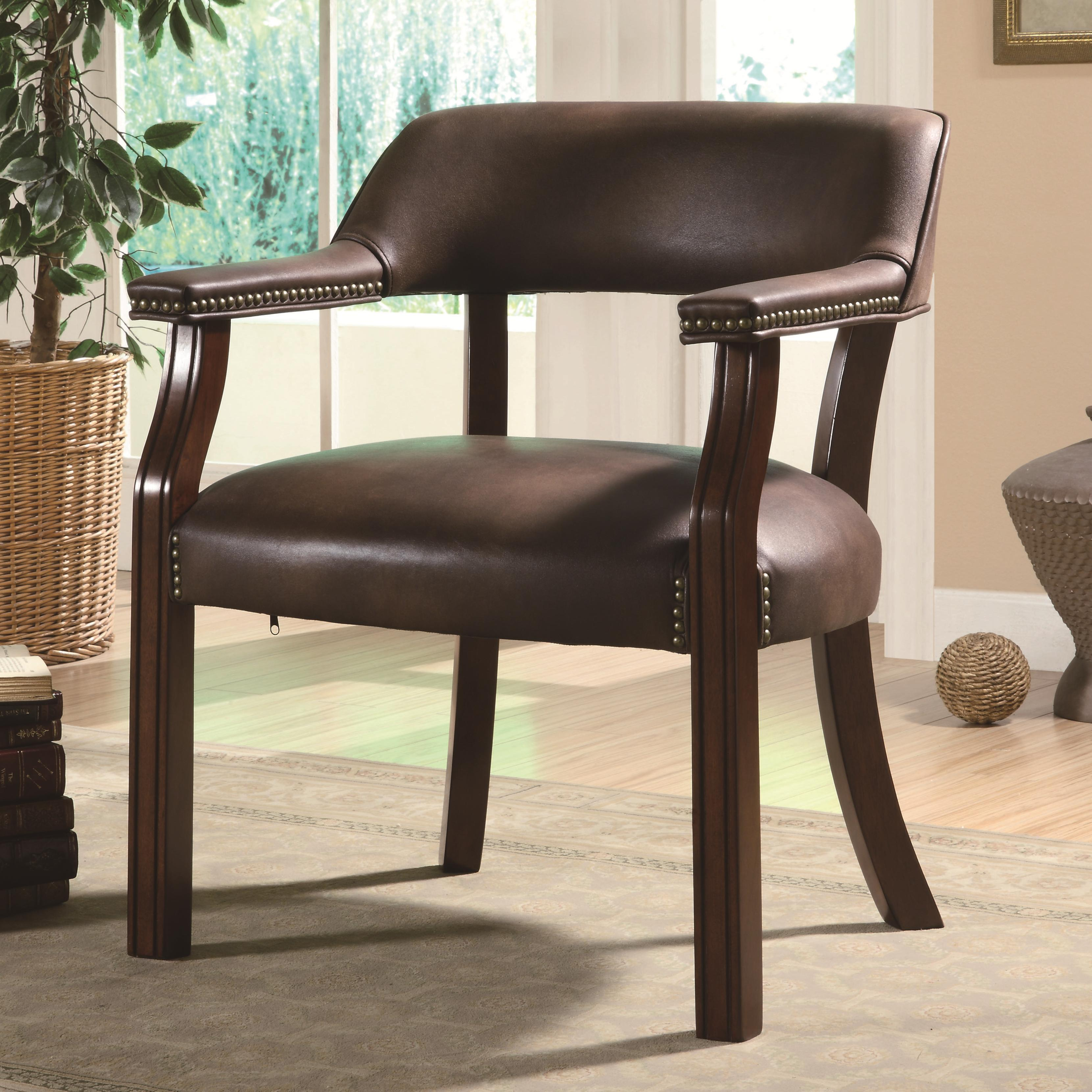 office side chairs buy and tables wholesale coaster 513brn traditional vinyl chair
