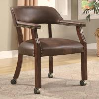 Coaster Office Chairs 517BRN Traditional Vinyl Office Side ...