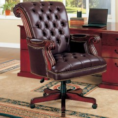 Leather Desk Chairs Finn Juhl Chair 108 Coaster Office 800142 Traditional Executive